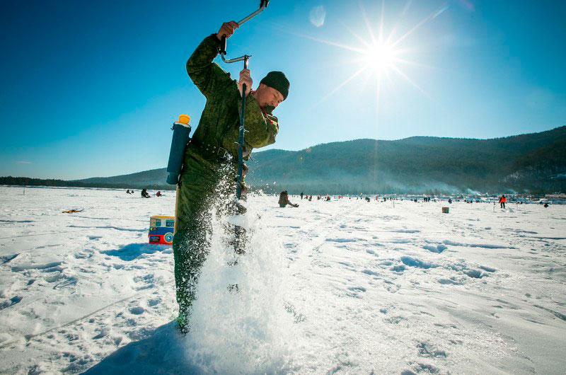 Фото зимней рыбалки на байкале